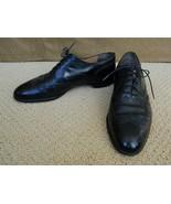 Salvatore Ferragamo Shoes Black Oxford Brogue Lace Up 9 1/2 C - $157.41