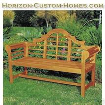 Teak Oiled Eucalyptus Wood Patio Outdoor Garden Bench - $349.00
