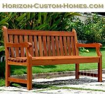 Teak Oiled Shorea Hardwood Garden Outdoor Bench - $299.00