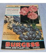 Vintage Burgess Seed and Plant Catalog 1939 Galesburg Michigan - $9.95