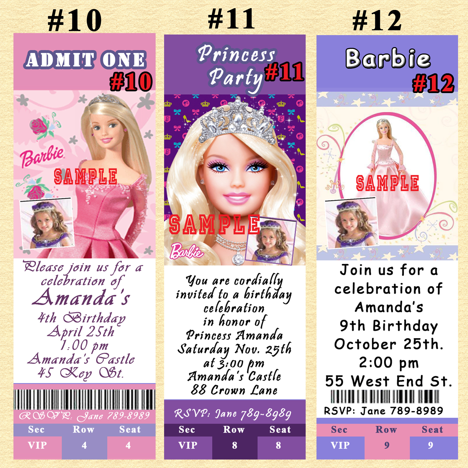 Srprintingservice Barbie Invitation 1 listing