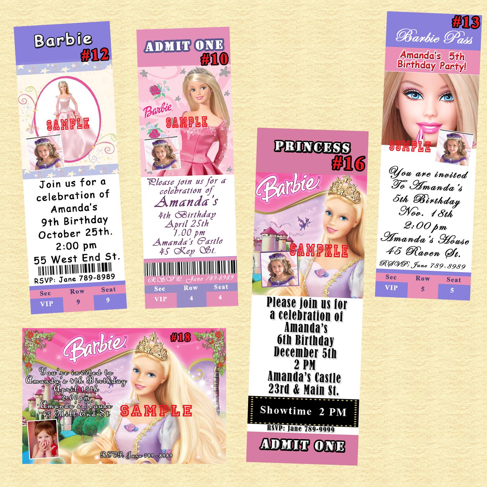 Barbie Birthday Invitation 10 ea wEnvelopes and 29 similar items