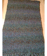 Multi-blue colored knit prayer shawl - $65.00
