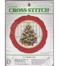 Christmas Tree Counted Cross Stitch Pattern Kit with Framing Hoop  - $10.00