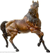 "80""H Stallion Solid Bronze Heroic Size Horse Animal Sculpture Statue - $13,634.74"