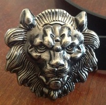 Handsome Large Metal Lion's Head Buckle Belt - Made in the U.S.A.- custo... - $45.99
