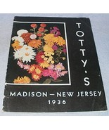 Totty's Flowering Plants Catalog 1936 Madison New Jersy Roses Chrysanthe... - $9.95