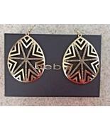 "Bebe Gold Tone Chandelier Pierced Earrings With Silver Sparkle (3"" X 2"") - $42.08"