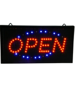 Slim Animated LED Neon Light Open Window Sign Bright Store Display BIG C... - $19.95
