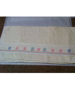 Hand cross stitched bath towel set (one each bath and hand towel) - $12.00