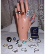 20 COSTUME JEWELRY  RINGS FREE SHIPPING - $99.99