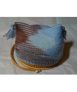 Blue/brown multi-color baby beanie with tassels - $6.00