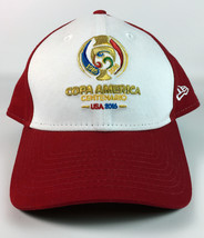 Copa America Centenario USA 2016 New Era 9FORTY Baseball Hat 100 Years Red Whit - $17.81