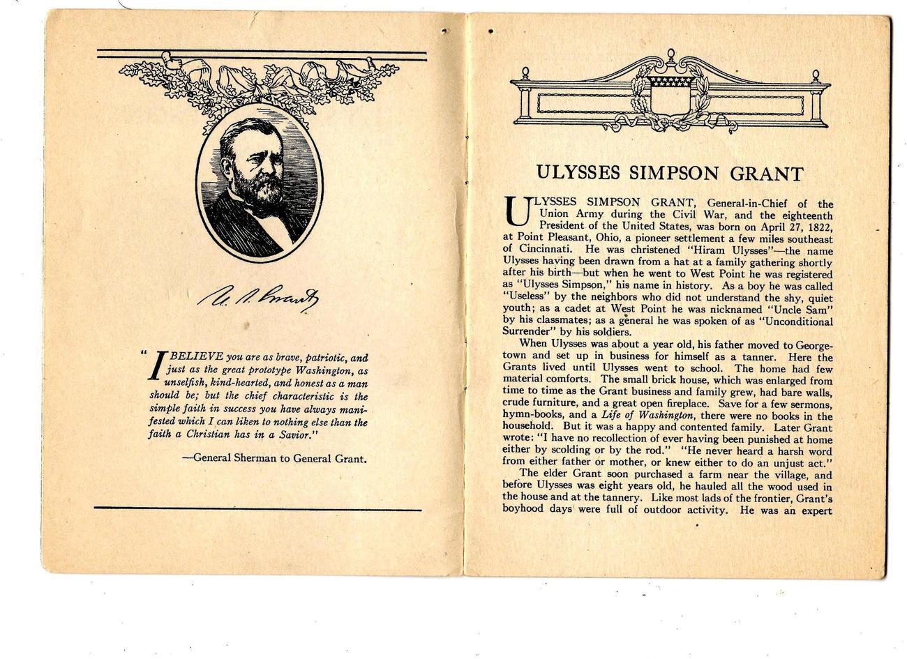 "Ulysses Simpson Grant ""-(1935) - Unconditional Surrender"""