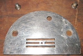 Vintage White Family Rotary Throat Plate w/Mounting Screws - $10.00