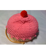 knit cupcake hat your color choice - $15.00