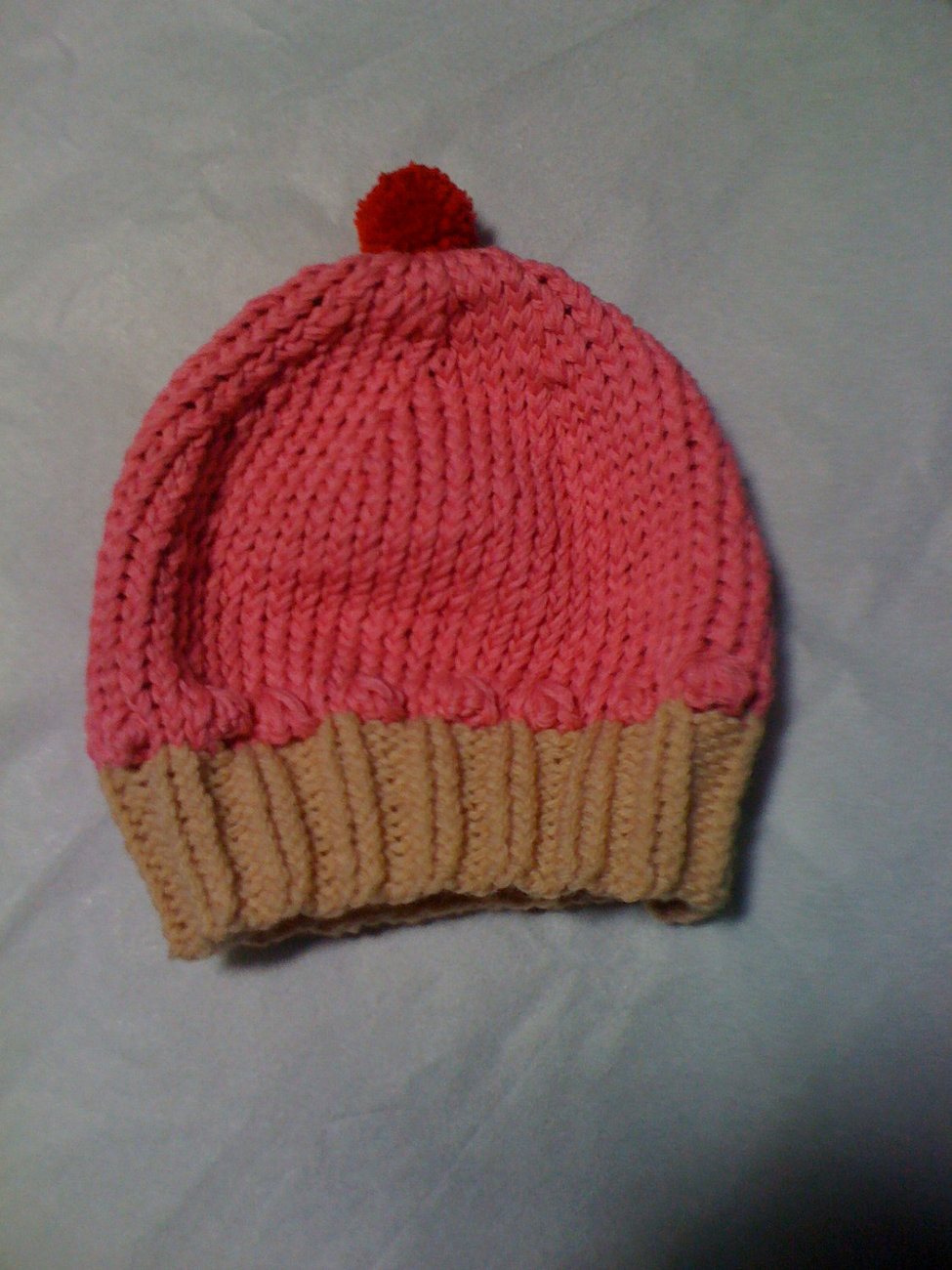 knit cupcake hat your color choice