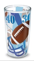 Tervis Football Yards Background Hot/Cold Wrap Travel Tumbler and Lid 16... - $13.05
