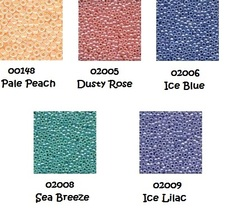 BEAD PACK Rainbow Parfait cross stitch Glendon Place Dinky Dyes  - $7.80
