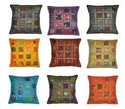 "16"" Vintage Decor Cotton Cushion Pillow Cover E... - $30.69"
