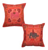 "16"" Indian Home Decorative Traditional Pillow C... - $21.67"