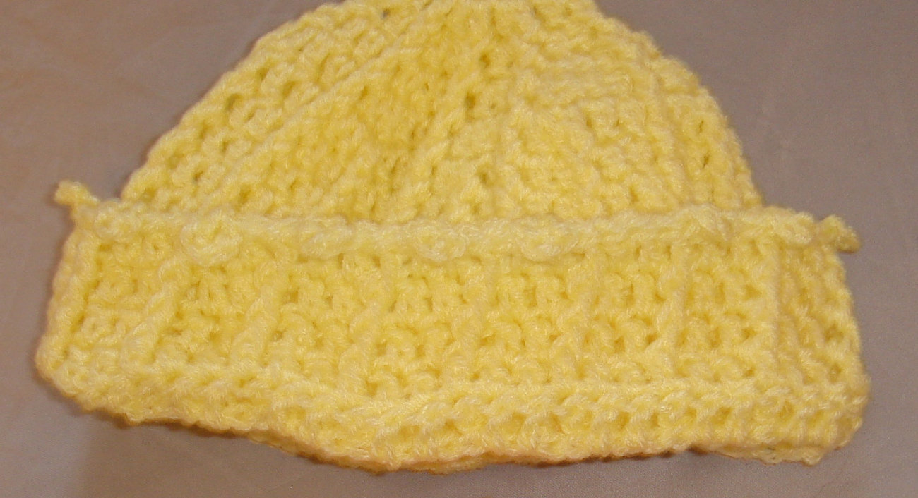 Crochet hat yellow or your choice of color