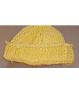 Crochet hat yellow or your choice of color - $10.00