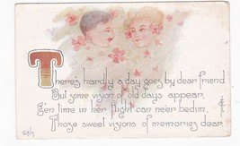 Hardly A Day Goes By Vintage Artist Signed Postcard C. Levi 1912 - $3.98