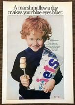 1976 Kraft Jets Marshmallows Print Ad Sweet Little Redhead Boy Blue Eyes Bluer - $10.69