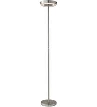 Adesso 3192-22 Floor Lamps Brushed Steel Aluminum Metal Halo - $200.00
