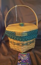 Longaberger 1997 Christmas Collection SNOWFLAKE BASKET 12645 Liner Prote... - $29.95