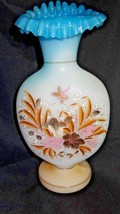 Vintage Glass Hand Blown Hand Painted Jack in Pulpit Vase - $125.00