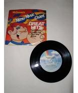 MCDONALD'S MENU MUSIC CHANT 45 RPM RECORD PROMO RUFUS CHAKA KHAN DONNIE ... - $14.99
