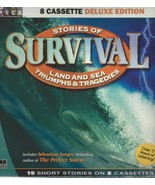 STORIES OF SURVIVAL:19 LAND & SEA TRUE STORIES; 8 Cassette TAPE SET;Stor... - $9.95