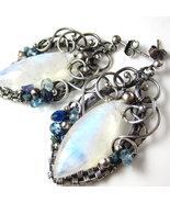 Winter Frost - Moonstone Marquise, Silver, and ... - $210.00