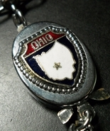 Ohio Key Chain Valet Style Connection Red White Blue and Silver Shield o... - $6.99