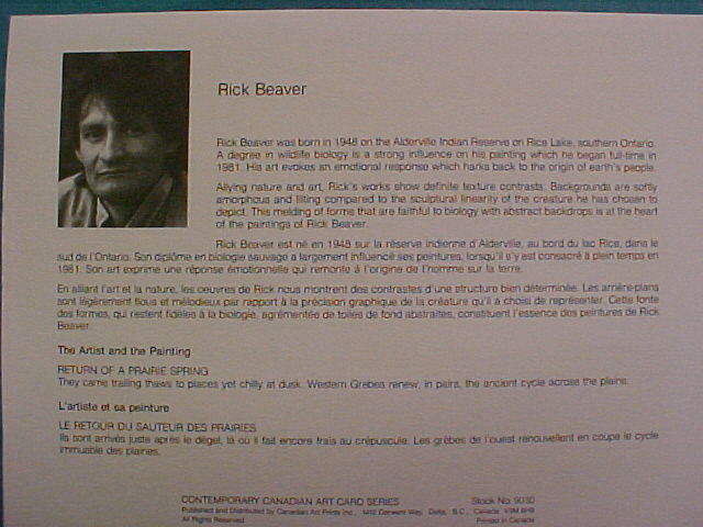 """Return of a Prairie Spring"" Rick Beaver print"