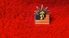 Vintage E. Hill Inc stamped 1983 Liberty Island tack tie hat lapel pin S... - $10.99