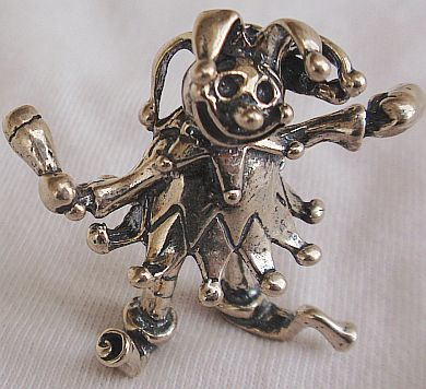 Clown silver miniature