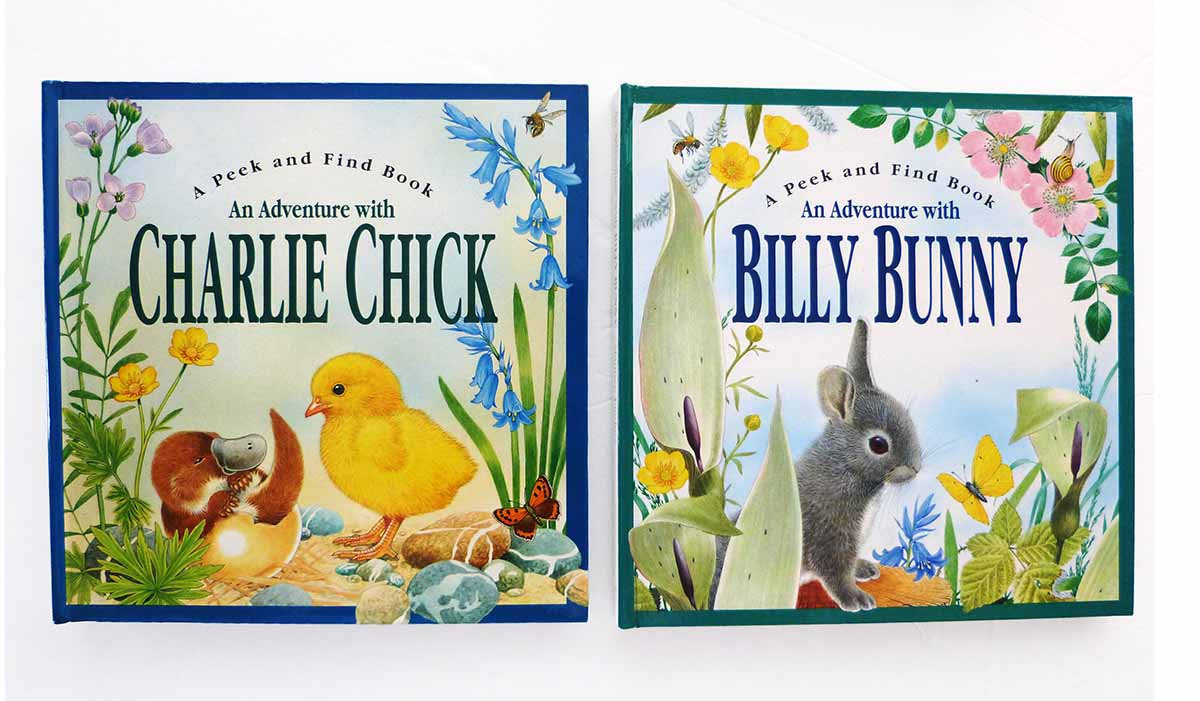 Four Vintage Maurice Pledger Animal Lover Pop-Up Books Peek & Find Series Advent