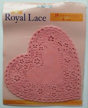 Royal Lace Pink Heart Doilies (18) Vintage Paper 6 Inch Arts Craft Baking - $5.97