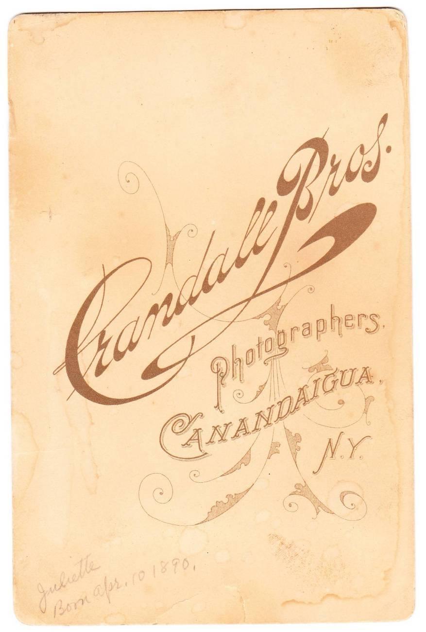 Antique 1890 Cabinet Card Photo Baby Canandaigua NY