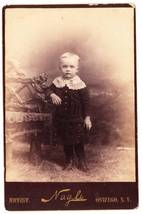 Antique Cabinet Card Photo Child Rustic Chair Oswego NY - $4.95