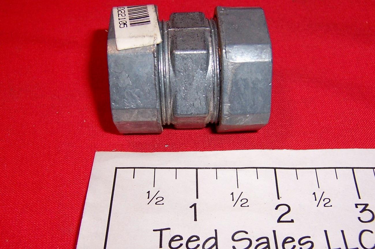 "1"" Electrical Metallic Tubing Compression Coupling,"