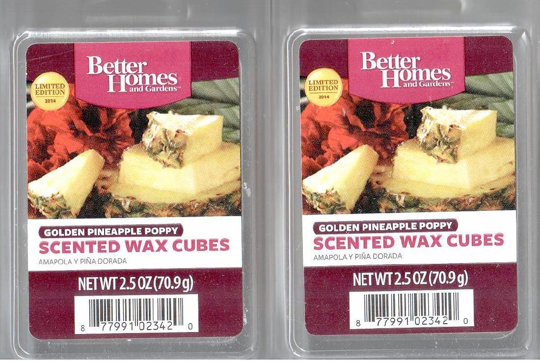 Golden pineapple poppy better homes and gardens scented for Better homes and gardens scented wax cubes