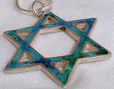 Big Eilat Star of David pendant
