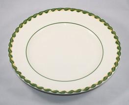 Metlox Dinner Plate Philodendron Vernonware Green Embossed Braid Border USA - $18.76