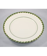 Metlox Dinner Plate Philodendron Vernonware Green Embossed Braid Border USA - $18.76