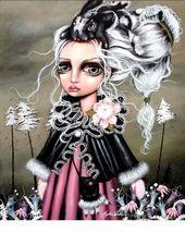 "Angelina Wrona's, "" Angora "" 13 x 10 Inch New Art Print - $14.95"