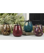 """7"""" Mosiac Candle Holder - Glass with Metal Insert - Choice of 4 colors - $29.99"""